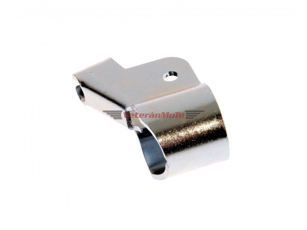 Držák / objímka páčky na řídítka pravý (bowden s miskou) - zinek BABETTA 207, 210, 225, PIONÝR 550, 555, 05, 20, 21, 23