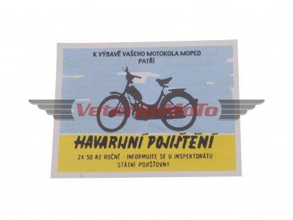 Kartička / doklad k mopedu STADION S11