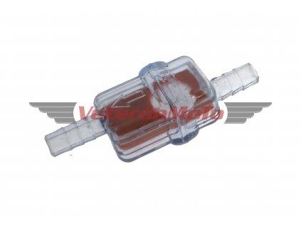 Palivový / benzinový filtr hranatý na hadičku s průměrem 5, 6