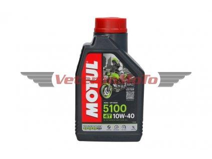 Olej pro čtyřtaktní motory Motul 5100 4T SAE 10W40 1L; JASO MA-2 SM