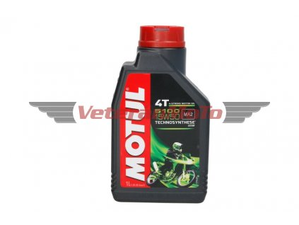 Olej pro čtyřtaktní motory Motul 5100 4T SAE 15W50 1L; JASO MA-2 SM