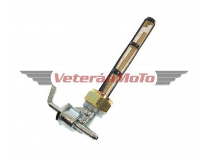 Palivový / benzinový kohout / kohoutek s převlečnou maticí M22x1 s bočním vývodem BABETTA / BABETA 210, 225