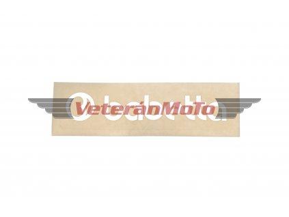 Nálepka / samolepka BABETTA bílá 135x25mm
