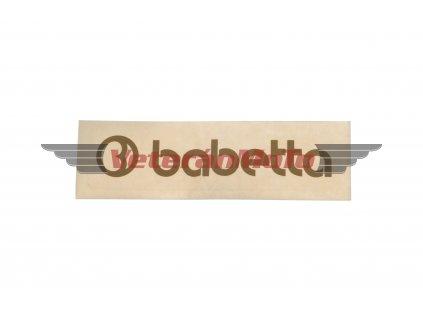 Nálepka / samolepka BABETTA zlatá 135x25mm