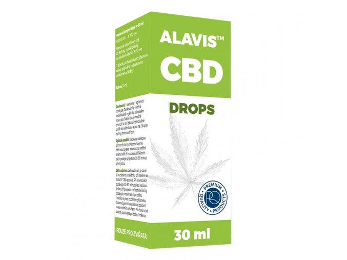 CBD kvapky 30ml - ALAVIS