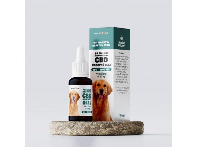 Olej konopný 15% CBD 10 ml pre veľké psy od 23 kg