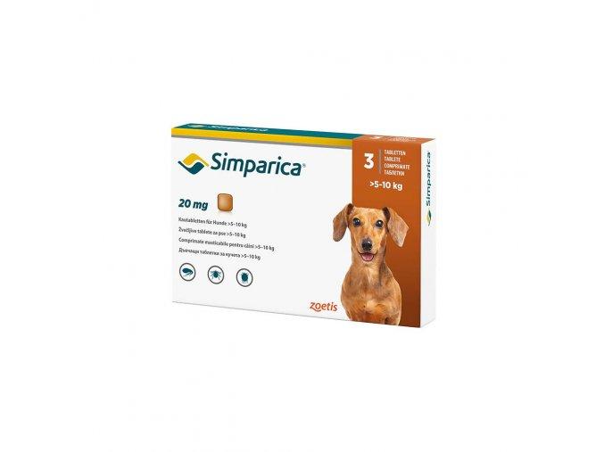 Simparica 20 mg - žuvacie tablety pre psy