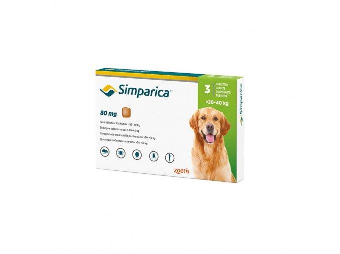 Simparica 80 mg - žuvacie tablety pre psy