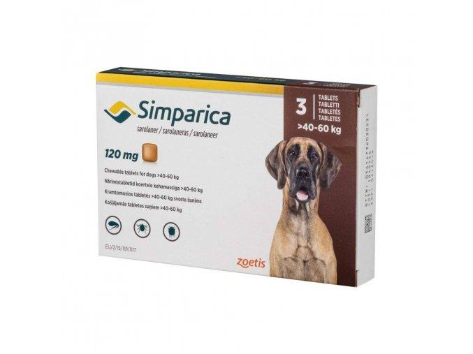Simparica 120 mg - žuvacie tablety pre psy