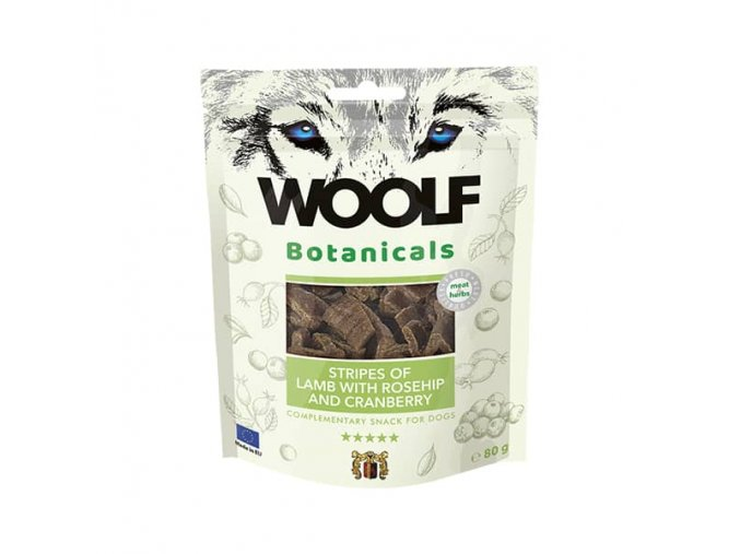 Pamlsok Woolf Dog - Jahňacie mäso s brusnicami a šípkami 80 g
