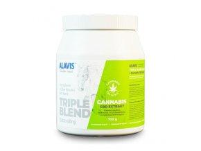 Triple Blend Extra Silný + Cannabis CBD Extrakt 700 g - ALAVIS