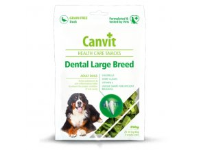 Pamlsok Canvit Health Care dog Dental Snack Large Breed 250 g