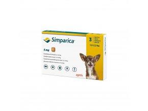 Simparica 5 mg - žuvacie tablety pre psy