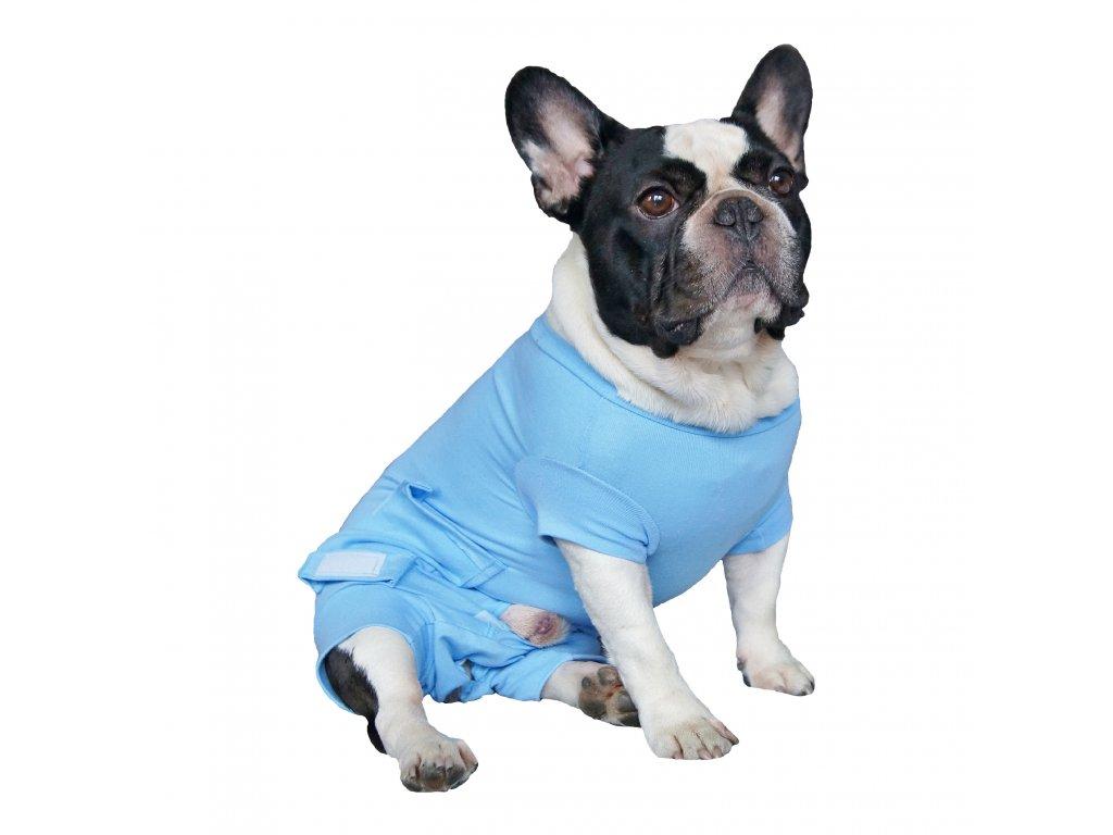 Pooperační krytí břicha na zip - pes