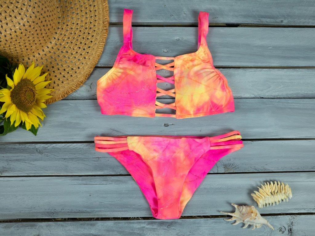 Dámské dvoudílné plavky Jolie růžové