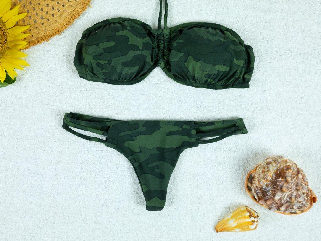 Dámské dvoudílné plavky Kaylie maskáčové