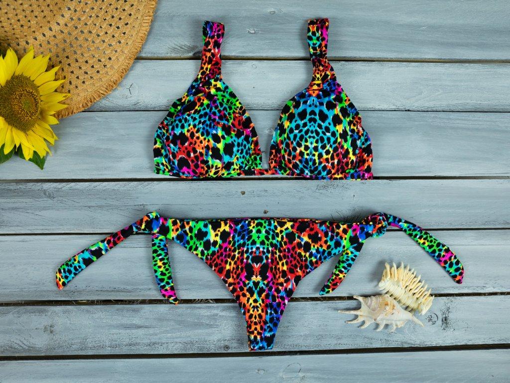 Dámské dvoudílné plavky Mia duhové