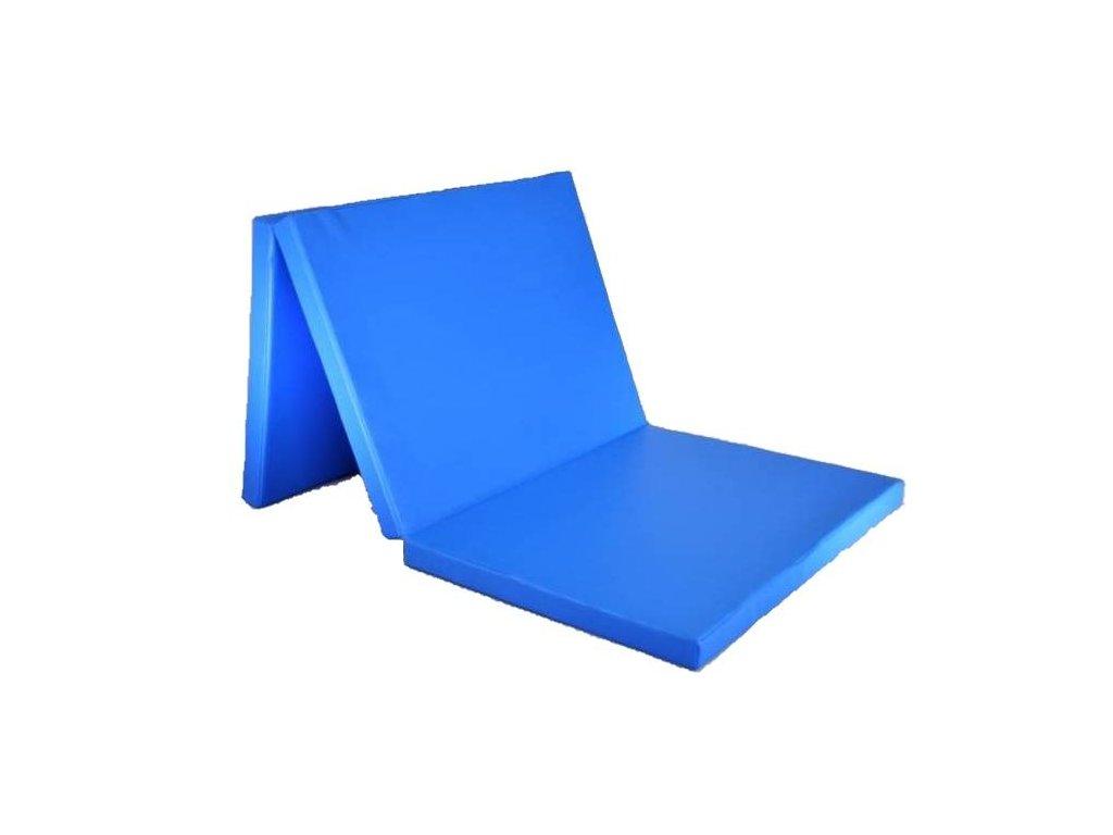 Skládací žíněnka třídilna Comfort 180x120x5 cm, modrá