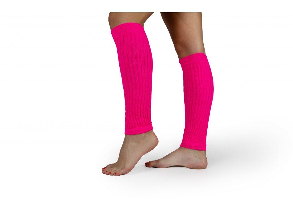 Návleky na nohy VFstyle 35 cm fluo růžové