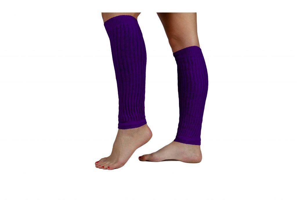 Návleky na nohy VFstyle 35 cm tmavě fialové