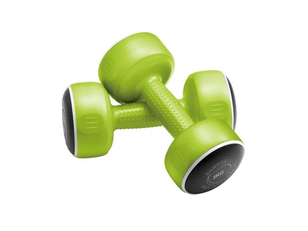 Jednoruční činky 2 x 3 kg, zelené