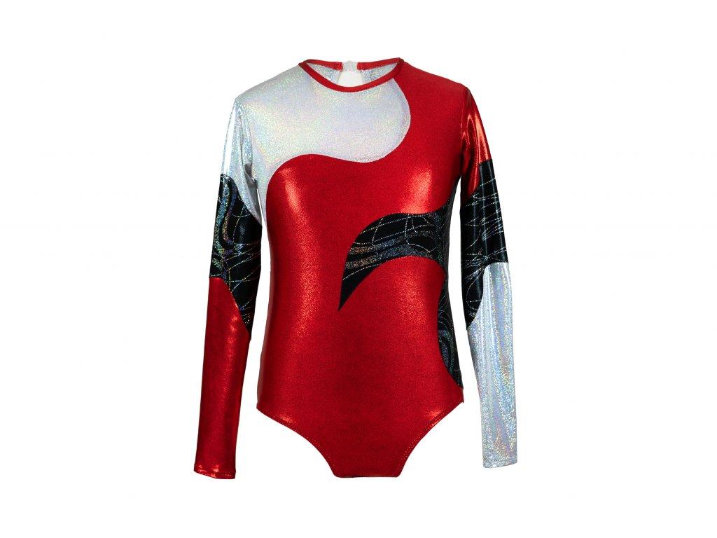 Trikot na gymnastiku Cler červený