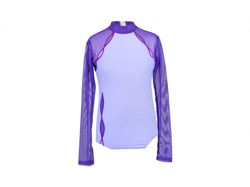Trikot na gymnastiku Dita fialový