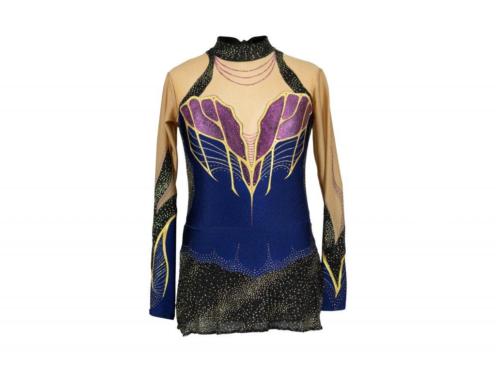 Trikot na gymnastiku Karin modrý