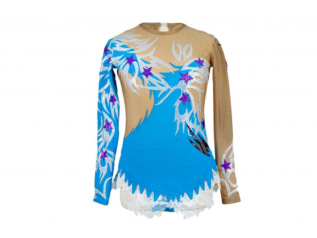 Trikot na gymnastiku Kira modrý