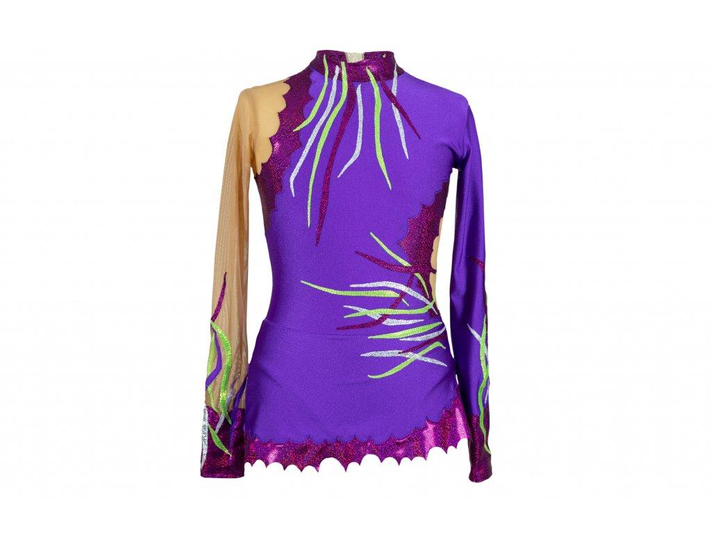 Trikot na gymnastiku Lilien fialový