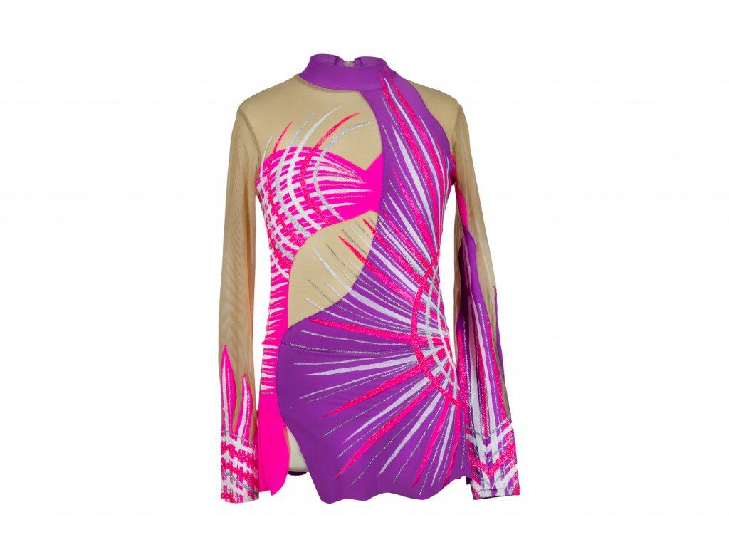 Trikot na gymnastiku Lilly fialový