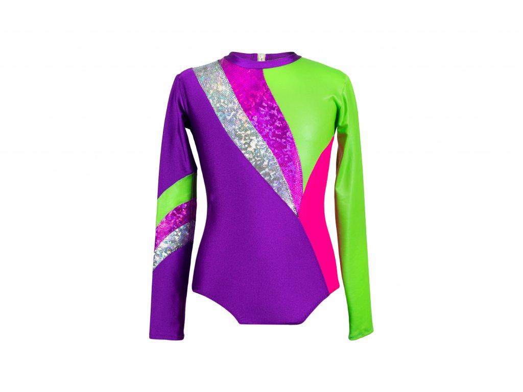 Trikot na gymnastiku Viktorie fialový