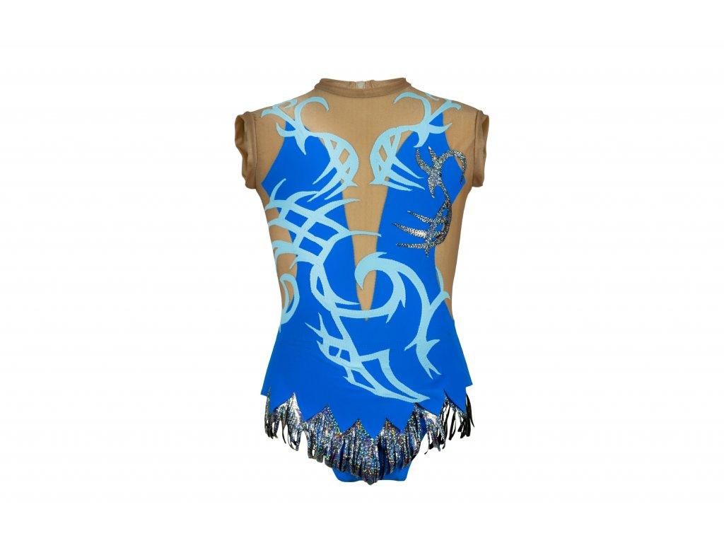 Trikot na gymnastiku Viola modrý