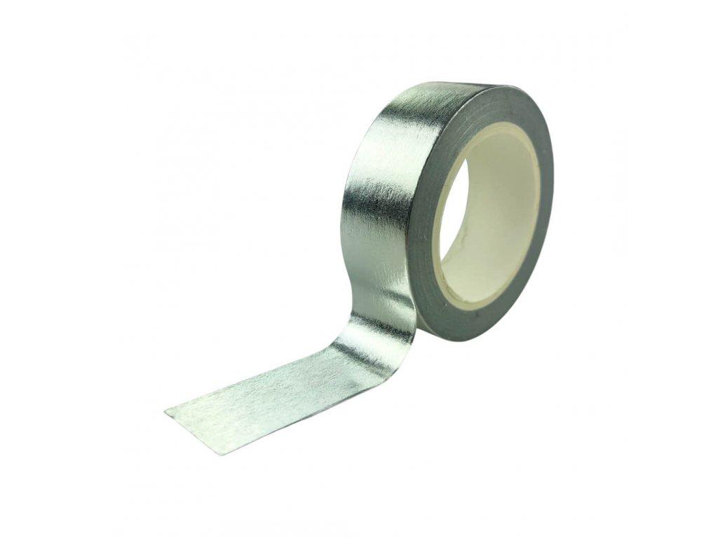 Ozdobná izolepa VFstyle stříbrná 10m