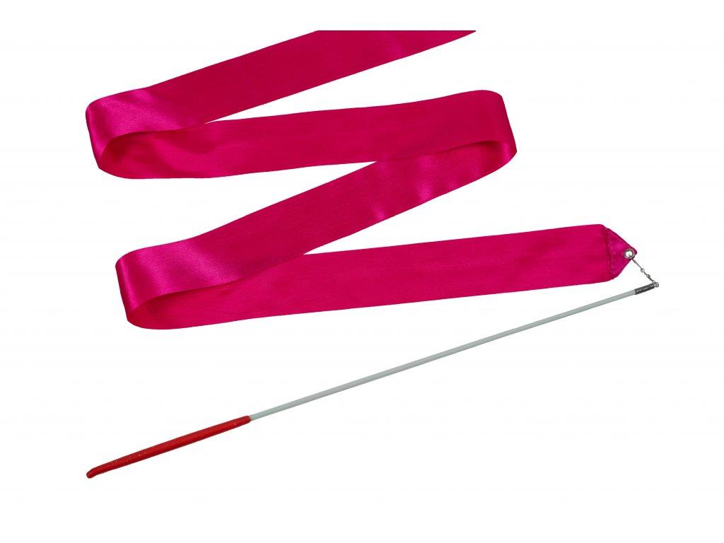 Dětská gymnastická stuha s tyčkou růžová 2 m