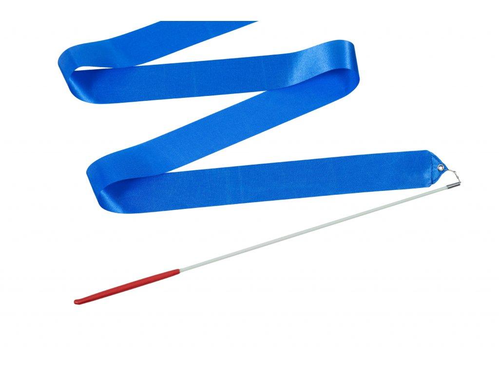 Dětská gymnastická stuha s tyčkou světle modrá 2 m