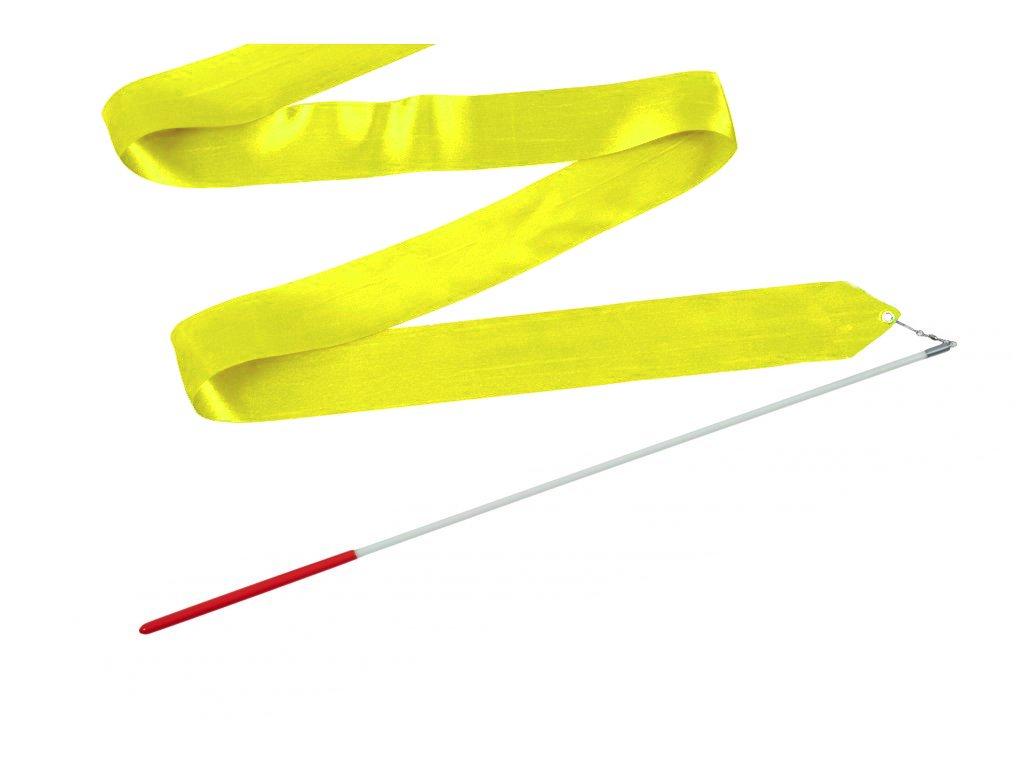 Gymnastická stuha s tyčkou citrónová 4 m