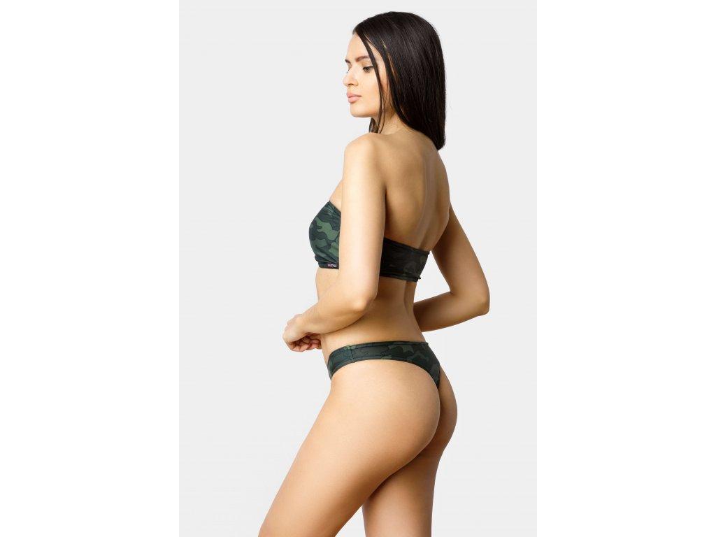 Spodní díl plavek tanga Lylah maskáčové