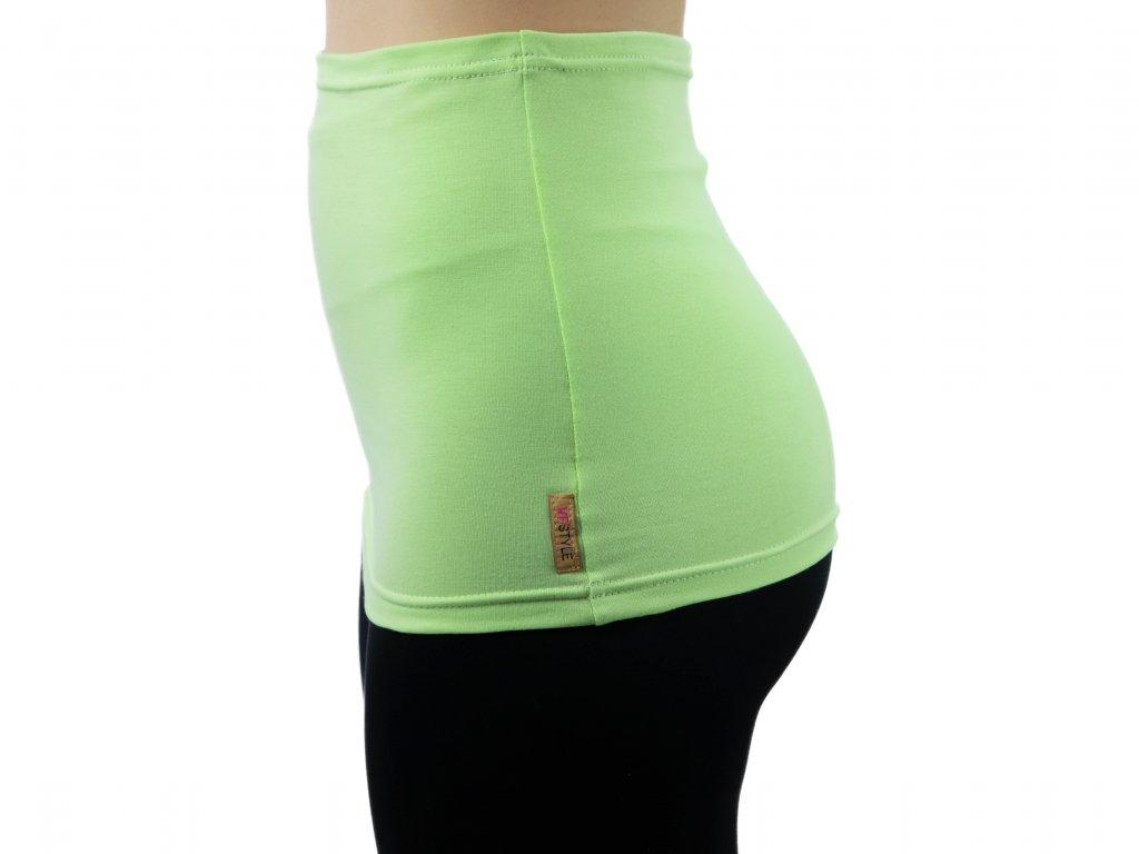 Ledvinový pás Comfort, světle zelený