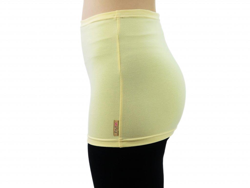 Ledvinový pás Comfort, světle žlutý
