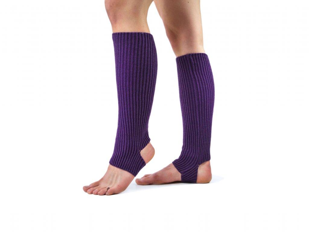 Návleky na nohy s otvorem na patu VFstyle 43 cm tmavě fialové