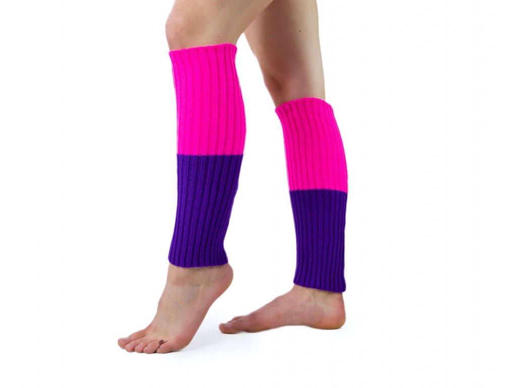 Návleky na nohy VFstyle 44 cm růžovo-fialové