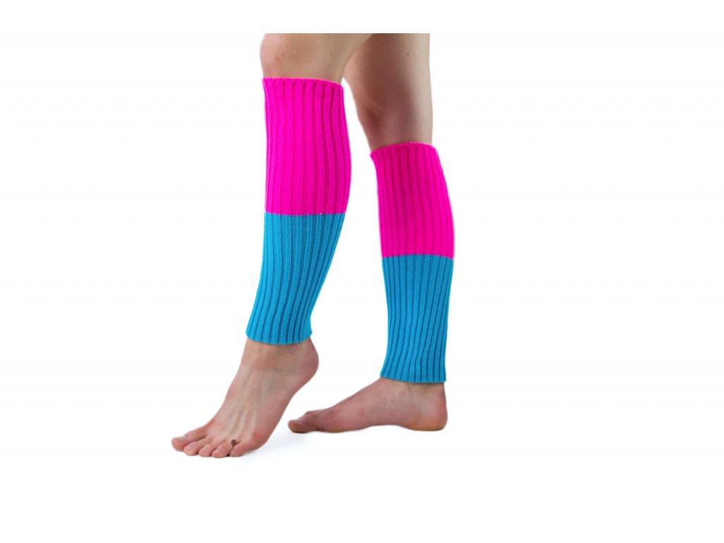 Návleky na nohy VFstyle 44 cm růžovo-tyrkysové
