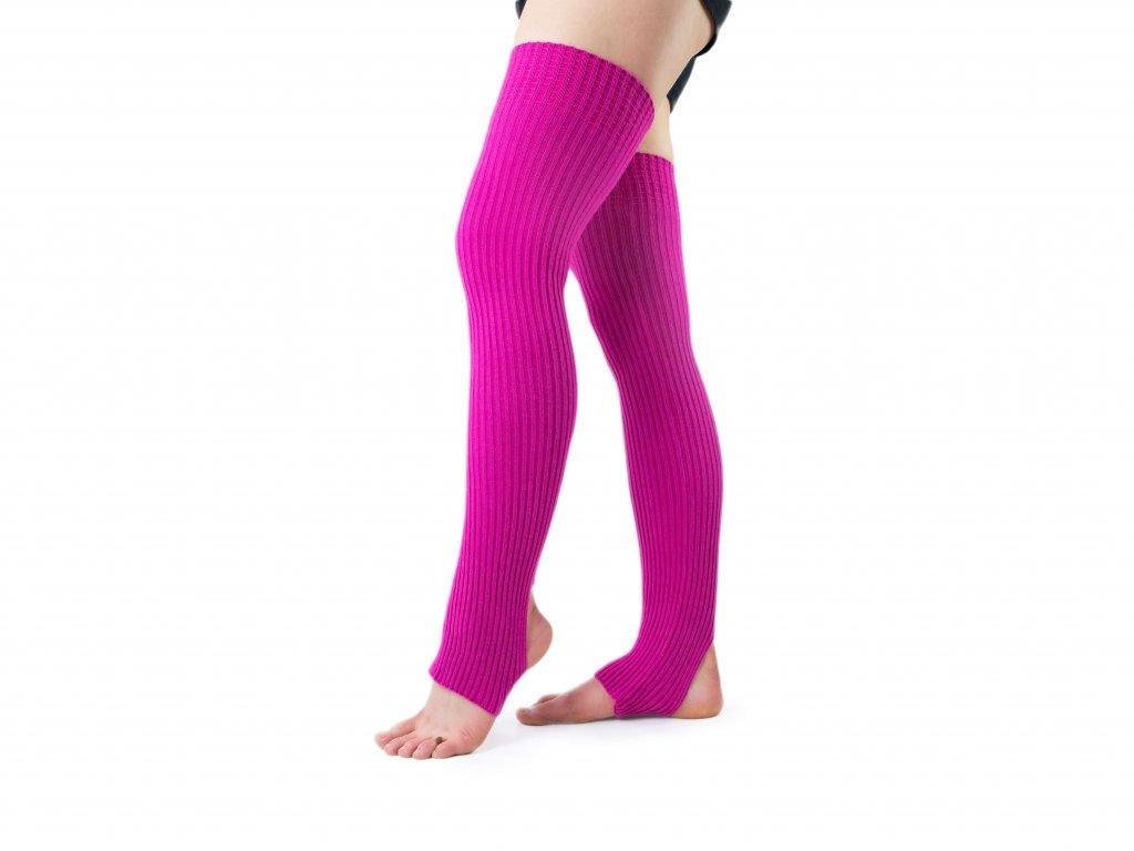 Návleky na nohy s otvorem na patu VFstyle 72 cm růžové
