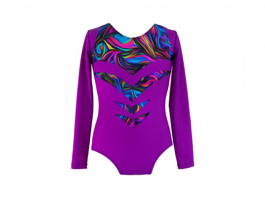 Dres na gymnastiku Tina fialový