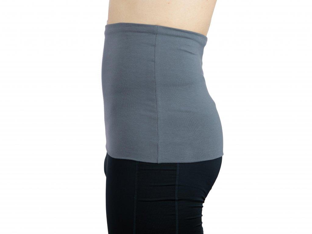 Pánský ledvinový pás Premium, šedý