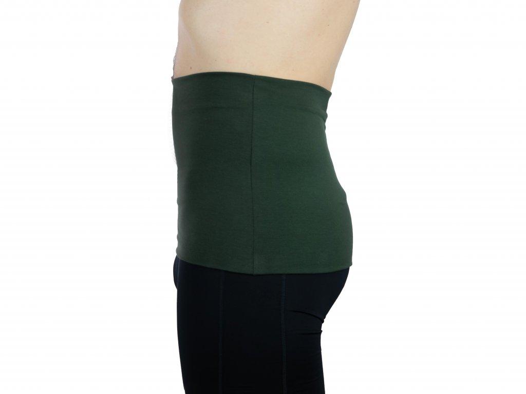 Pánský ledvinový pás Premium, tmavě zelený
