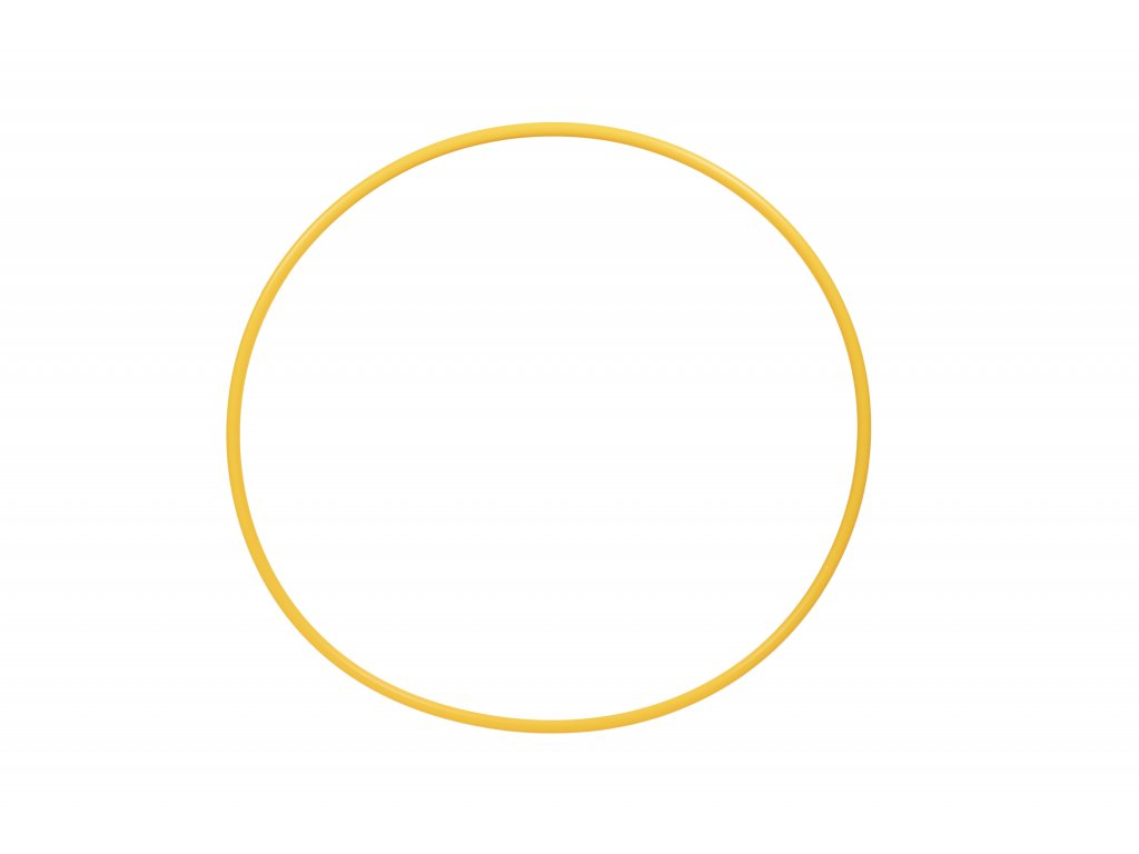 Gymnastická obruč žlutá