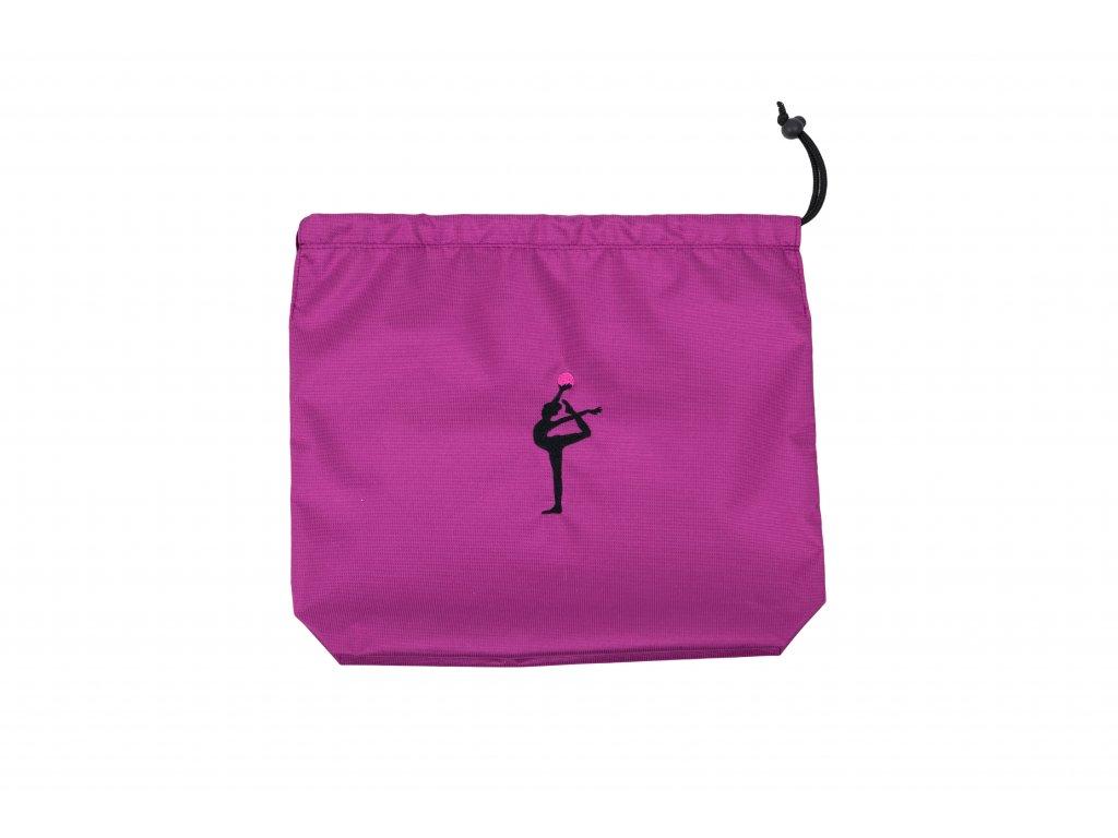 Obal na míč VFstyle s gymnastkou fialový
