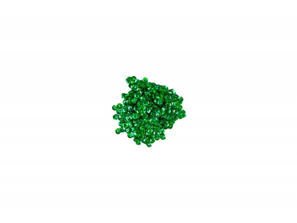 Flitry lomené s hologramem zelená